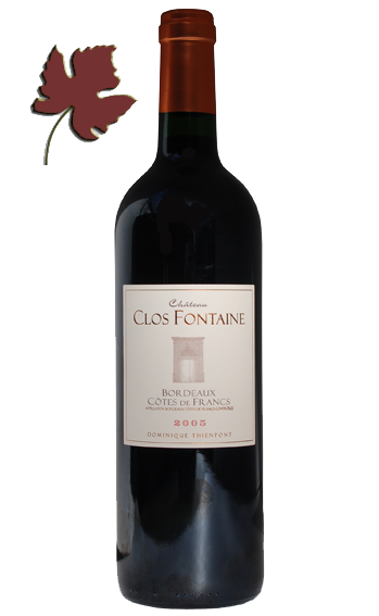 Bordeaux Cotes de Francs 2016 - Clos Fontaine